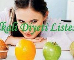 Alkali Diyeti Listesi